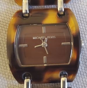 Michael Kors tortoise chain link watch